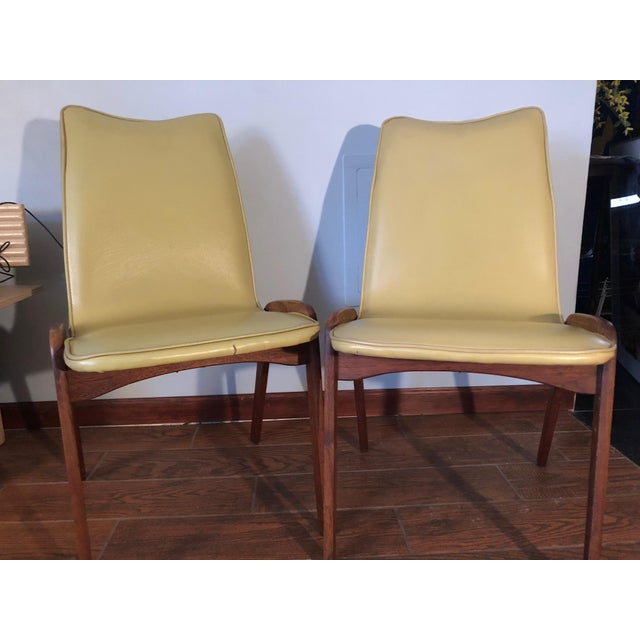 Boho Chic Johannes Andersen Style Mid-Century Danish Teak Chairs - a Pair For Sale - Image 3 of 9