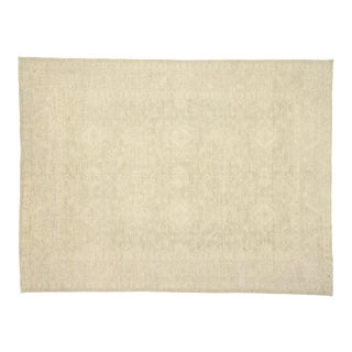 Contemporary Oushak Area Rug With Neutral Colors - 09'03 X 12'04 For Sale