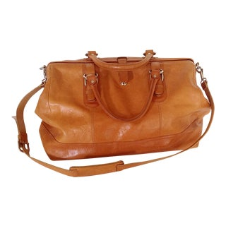 Italian Leather Satchel Carry-On For Sale