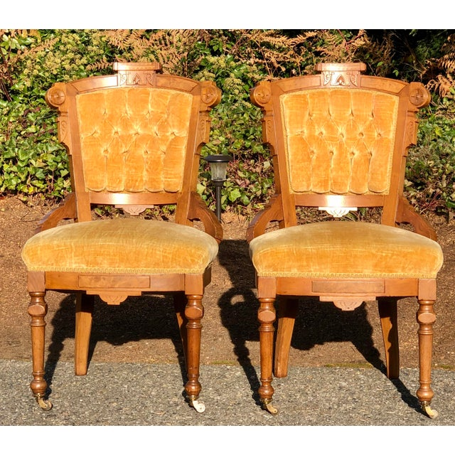 Beautiful matching set in impeccable condition. Burl inlay. Just stunning!