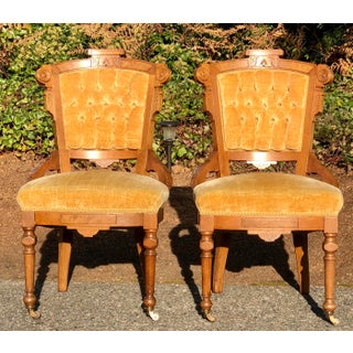 Late 19th Century Victorian Eastlake Chairs - a Pair Preview