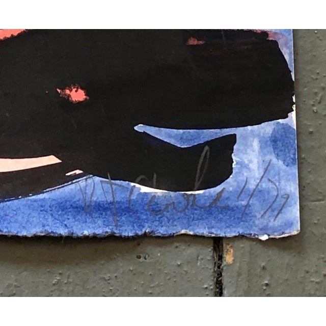 """Original painting on uneven paper. Signed bottom right, Dated 1979. 8.5"""" x 11.5"""" Unframed"""