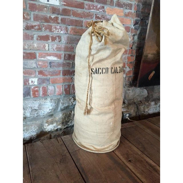 Sacco Calzature Vintage Linen Shoe Bag - Image 3 of 4