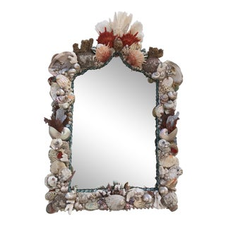Organic Modern Seashell and Coral Mirror