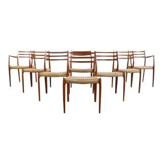 Niels Møller No. 78 Dining Chairs by J.L. Møllers Møbelfabrik, Denmark - A Set of 8 For Sale