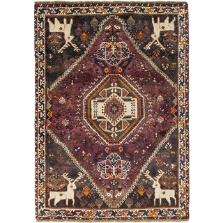 """""""Donner"""", Sarouk Hand Knotted Persian Rug - 3' 9"""" X 5' 5"""" For Sale"""
