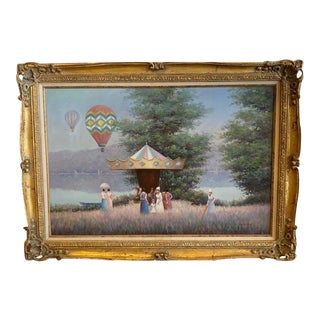 Impressionist Oil Painting by Jean Daumier, Framed For Sale