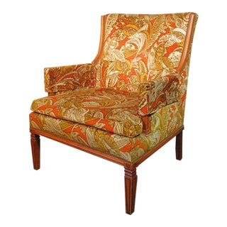 1960s Vintage Lounge Reading Accent Arm Chair For Sale
