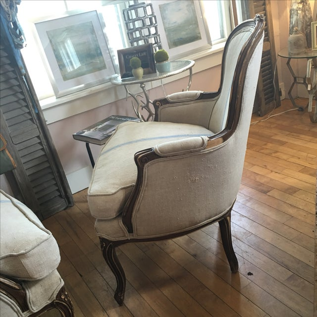 Antique French Bergère Chairs - A Pair - Image 5 of 5