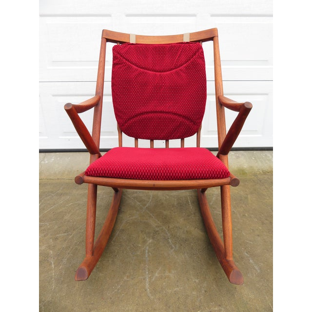 Mid 20th Century Mid Century Modern Teak Rocker Lounge Chair For Sale - Image 5 of 13