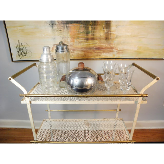Vintage Mid-Century Folding Bar Cart - Image 6 of 6