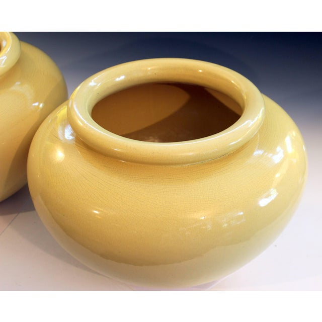 Ceramic Pair of Pacific Pottery Clay Art Deco Ca La Gladding Bauer Gmb Garden Jar Vases For Sale - Image 7 of 10