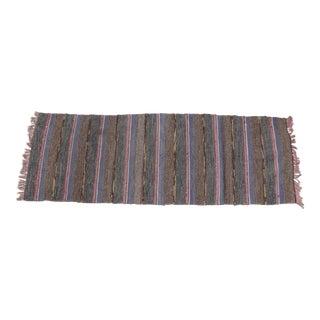 Swedish Vintage Handwoven Rag Rug - 2'x 6'