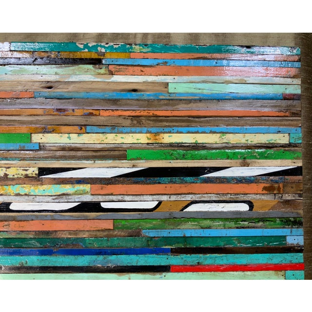 2020s Abstract Reclaimed Wood Wall Sculpture For Sale - Image 5 of 13
