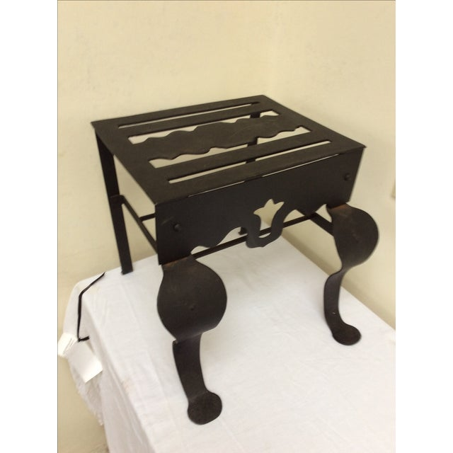 Brown Antique Kettle Stand For Sale - Image 8 of 8