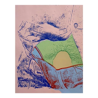 Mid-Century Pink Abstract Serigraph For Sale