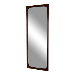 1960s Danish Rosewood Mirror From Aarhus Glasimport and Glassliberi For Sale
