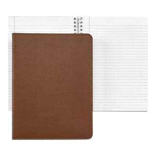 Refillable Notebook, Bonded Leather And Paper in Tan For Sale