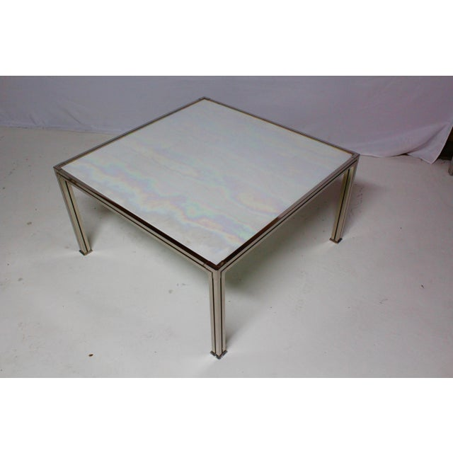 Chrome Coffee Table With Opal Slag Glass - Image 4 of 6