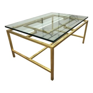Art Deco Kravet Napa Coffee Table For Sale