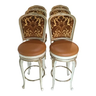 French-Style Bar Stools - Set of 6 For Sale