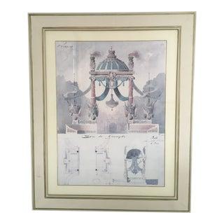 Contemporary Arc De Triomphe Print After Francois Phillips Boitte, Framed For Sale
