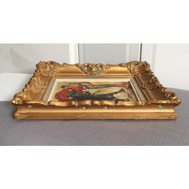 Giltwood Antique Spanish Matador Oil on Canvas Painting For Sale - Image 7 of 10