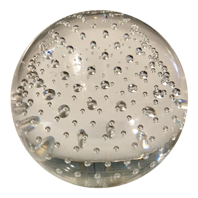 Clear Art Glass Paper Weight For Sale