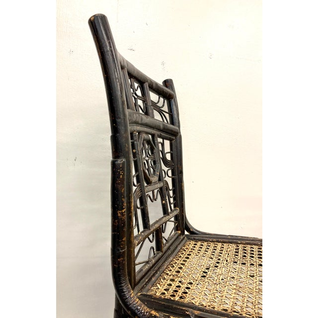 Wood Brighton Bamboo Counter Chairs - a Pair For Sale - Image 7 of 11