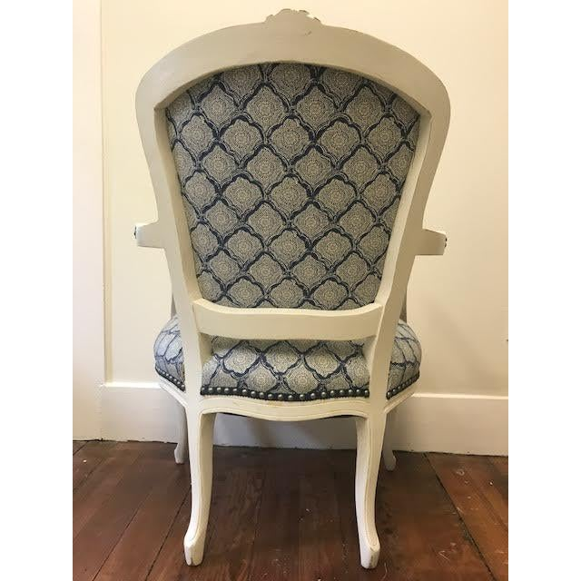 Vintage Reupholstered Armchair - Image 3 of 3