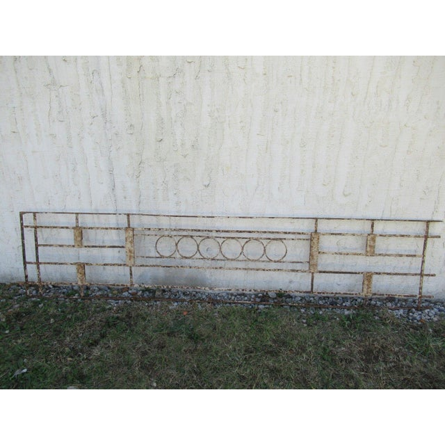 Antique Victorian Iron Gate Window Garden Fence Architectural Salvage Door #076 For Sale In Philadelphia - Image 6 of 6