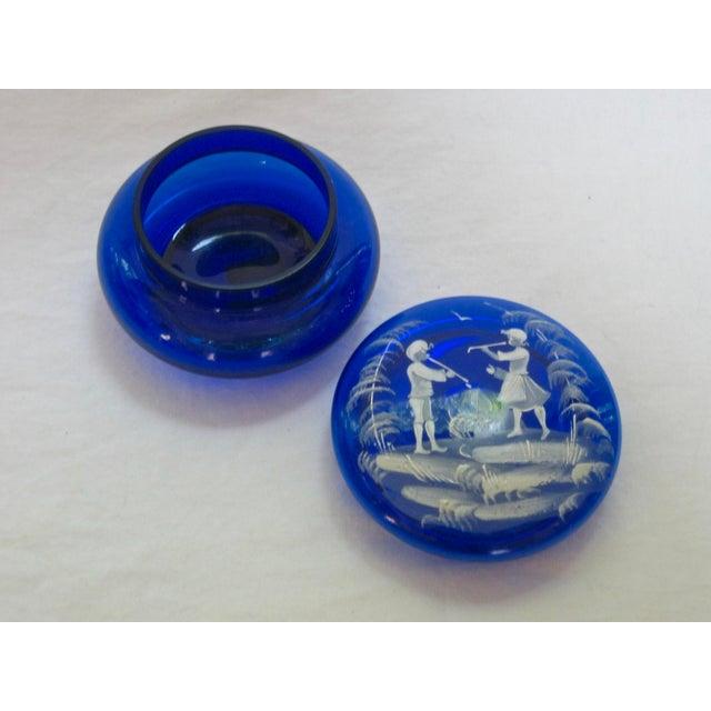 Hand Blown Italian Glass Trinket Box For Sale - Image 4 of 5