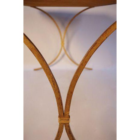 1970s French Gilt Leather Top Desk For Sale - Image 5 of 8