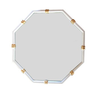 Dana Gibson Bamboo Mirror in White, Octo Style For Sale
