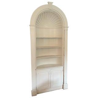 Antique Built-In Corner Shell Cabinet