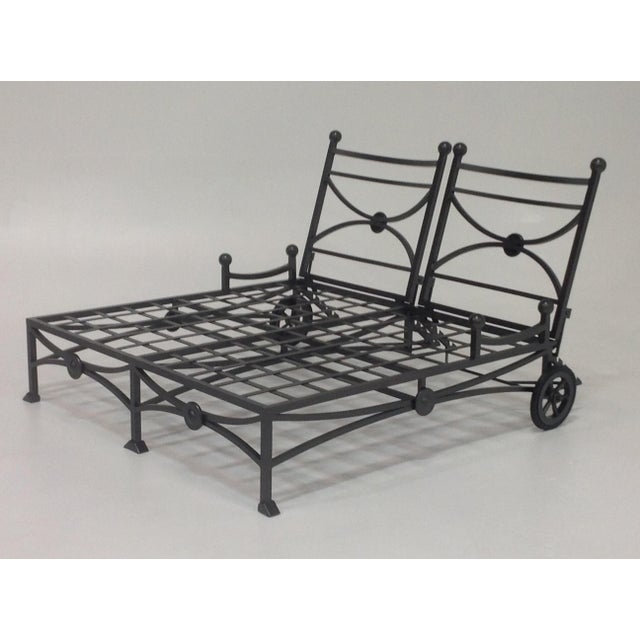 Large Patio Double Chaise Lounge For Sale - Image 4 of 6