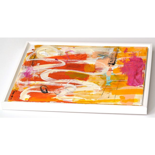 "Abstract Lesley Grainger ""Lazy Days"" Original Abstract Painting For Sale - Image 3 of 4"