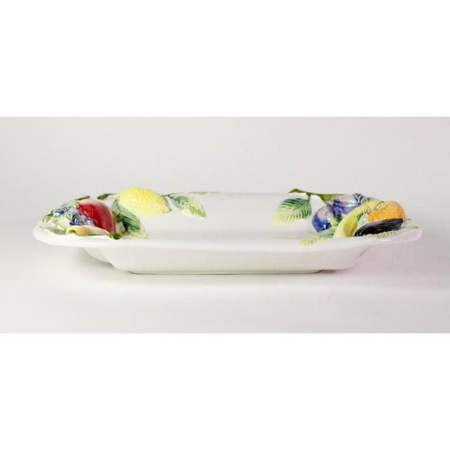 Americana Large Repoussé Majolica Fruit Motif Serving Platter For Sale - Image 3 of 7