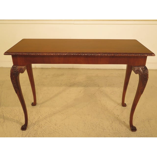Wellington Hall Georgian Style Carved Mahogany Console Table - Image 9 of 11