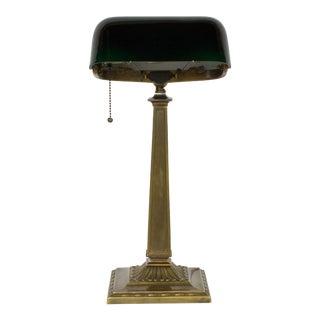 1910s Emeralite Brass Desk Lamp For Sale