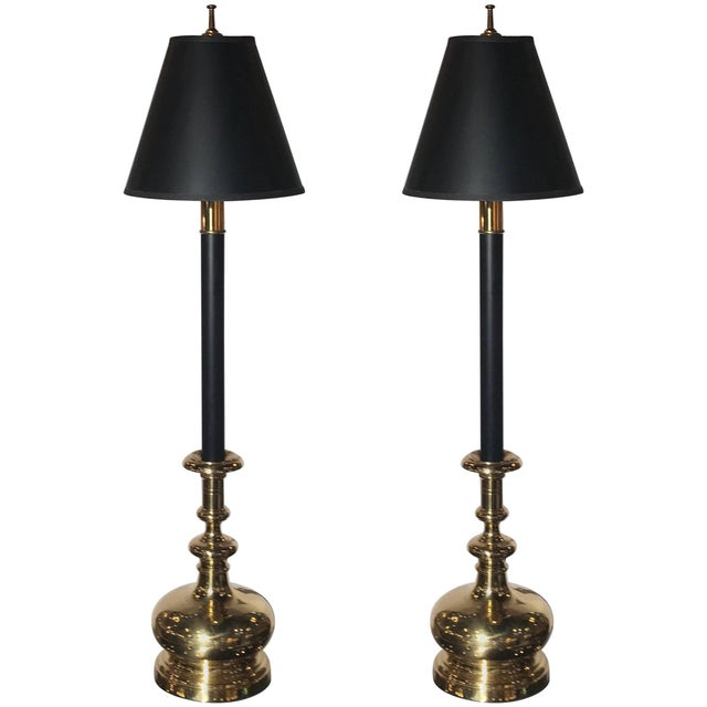20th Century Traditional Chapman Manufacturing Company Tall Buffet Candlestick Lamps - a Pair For Sale - Image 10 of 10