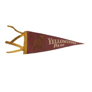 Vintage Yellowstone Park Felt Flag Pennant For Sale