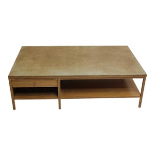 Paul McCobb for Calvin Leather-Topped Coffee Table For Sale