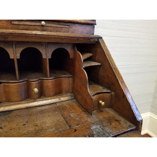 17th CenturyEnglish Walnut Double Dome Bureau For Sale - Image 9 of 13