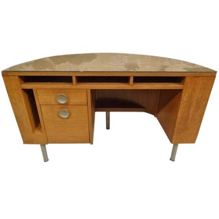 Gilbert Rohde for Herman Miller American Art Deco Demilune Desk For Sale