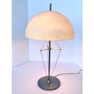 1990s Sonneman for Kovacs Industrial Mushroom Table Lamp Preview