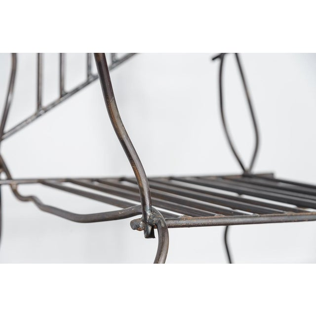 Italian Unusual Modern Metal Chair by Unknown Artist For Sale In West Palm - Image 6 of 13