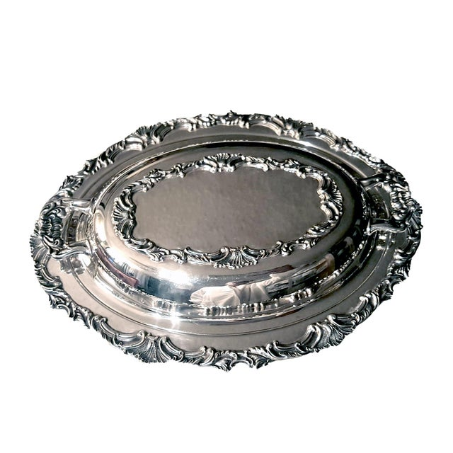 Americana Ascot by Community Silverplate Vegetable Dish, Double/Covered For Sale - Image 3 of 7