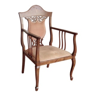 Victorian Coral Armchair For Sale