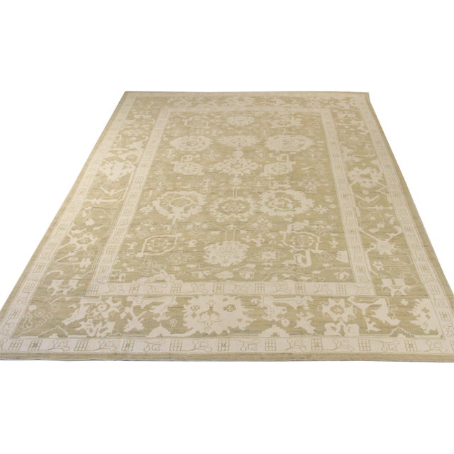 Persian rug made from handwoven wool of the finest quality and colored with all-organic vegetable dyes. It features an...